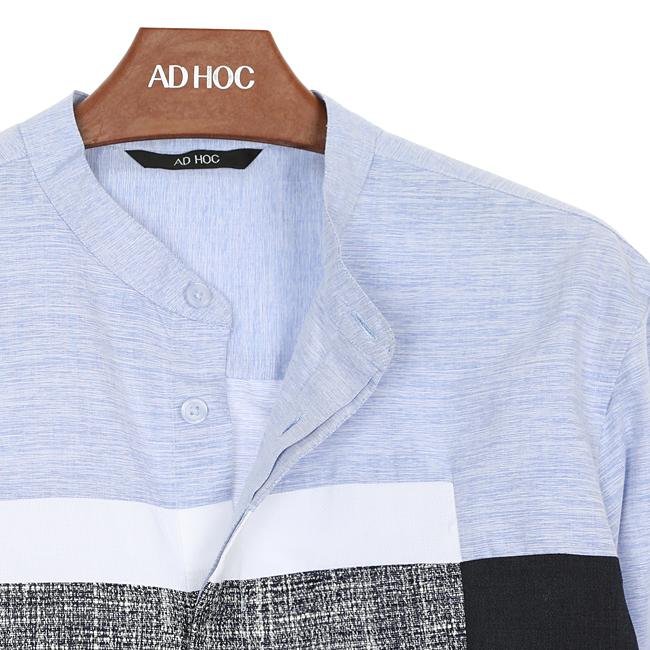 애드호크(ADHOC) 컬러블럭 셔츠