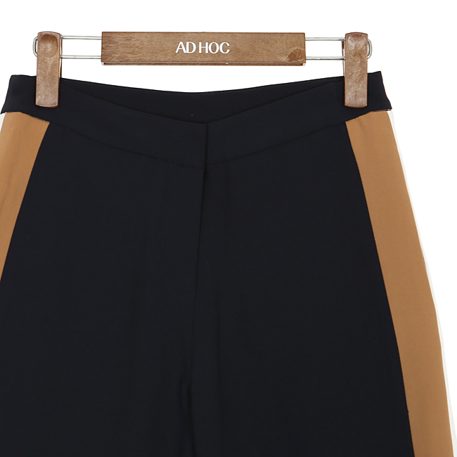애드호크(ADHOC) 사이드 믹스드 컬러 스트레이트 팬츠