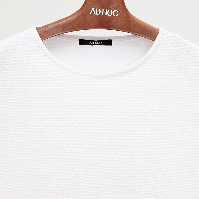 애드호크(ADHOC) 라운드 긴팔 티셔츠