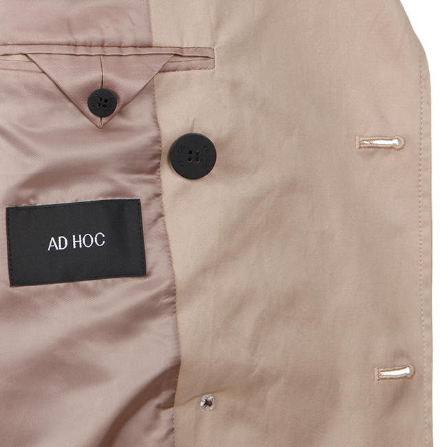 애드호크(ADHOC) 더블 트렌치 코트