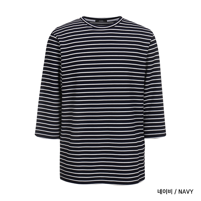 애드호크(ADHOC) STRIPE 7부 슬리브 티셔츠