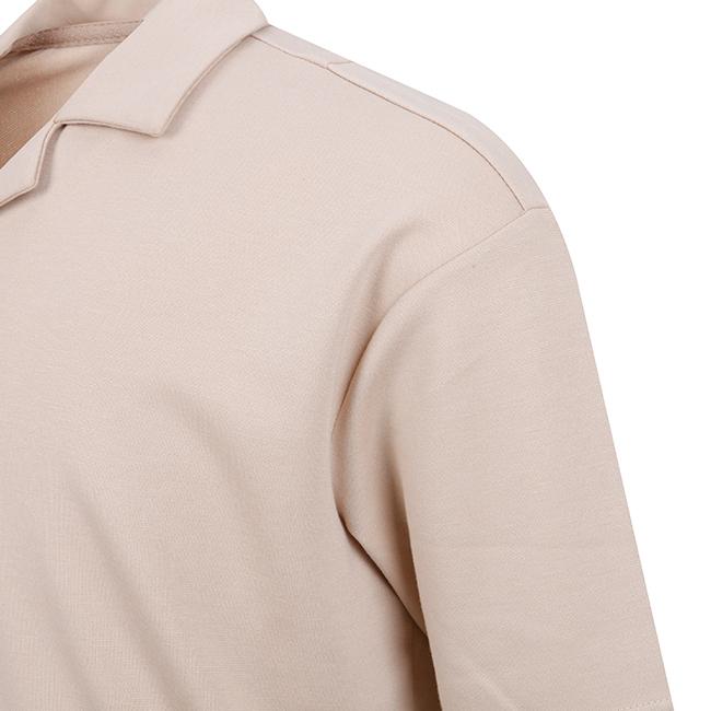 애드호크(ADHOC) 오픈카라 티셔츠