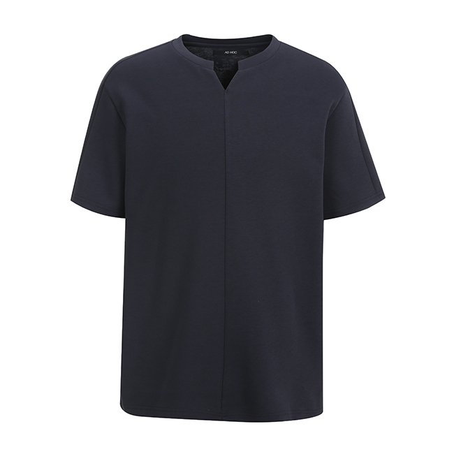 애드호크(ADHOC) NECK 슬릿 컬러 티셔츠