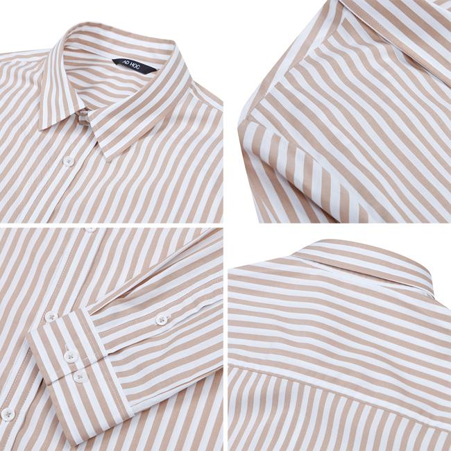 애드호크(ADHOC) 스트라이프 기획 셔츠