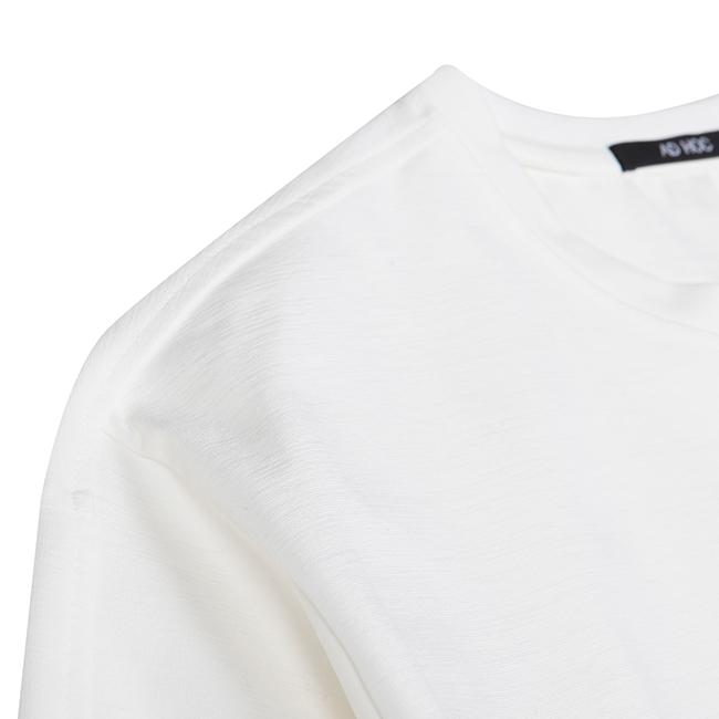 애드호크(ADHOC) 그래픽 포인트 크롭슬리브 티셔츠