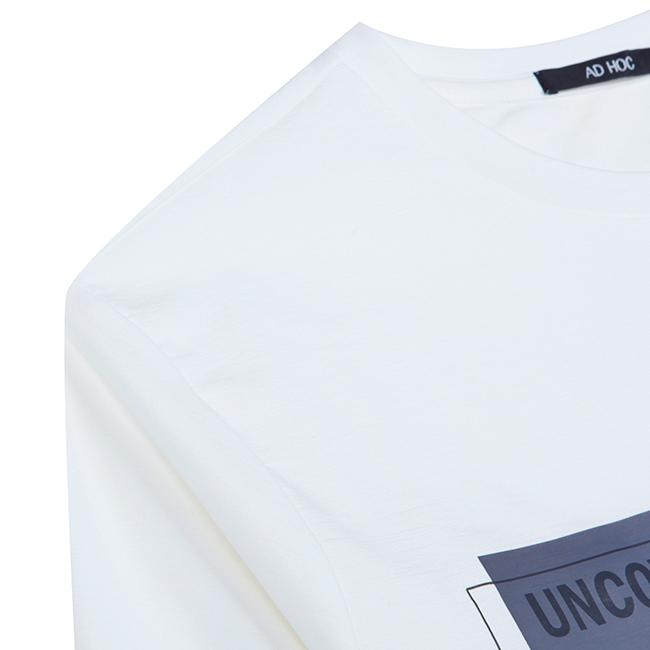애드호크(ADHOC) 스퀘어 프린트 티셔츠