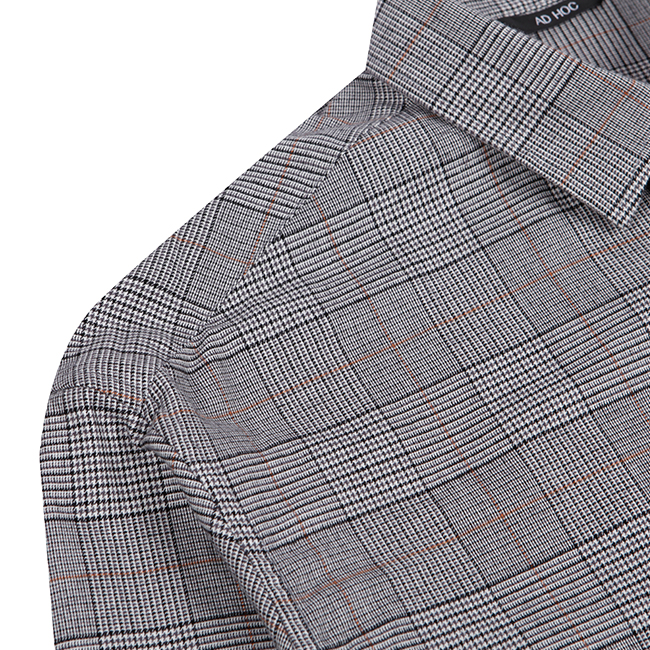 애드호크(ADHOC) 체크 오버핏 셔츠